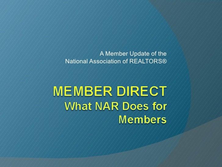 NAR Member Direct  10.09