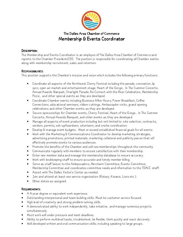 Marketing Coordinator Job Description Samples – Marketing Coordinator Job Description