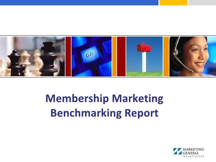 Membership MarketingBenchmarking Report