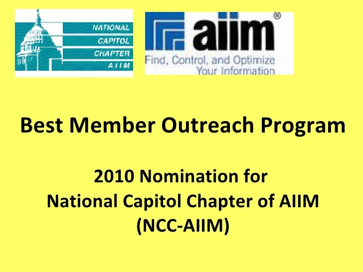 AIIM NCC's submission for Best Membership Event