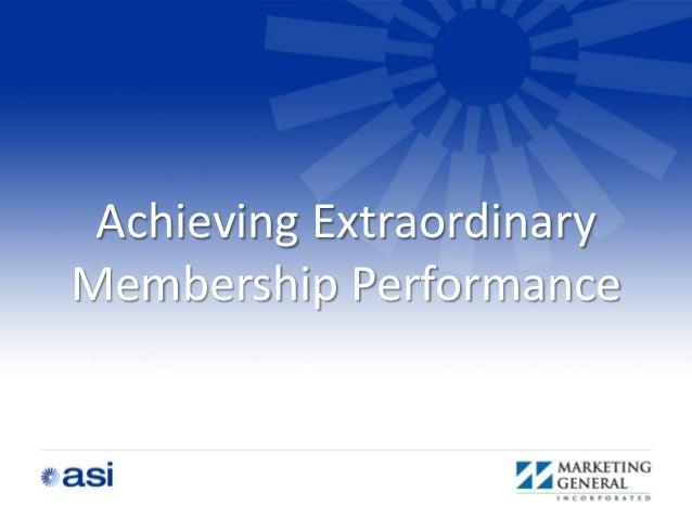 Membership performance improvement seminar nyc oct 2012