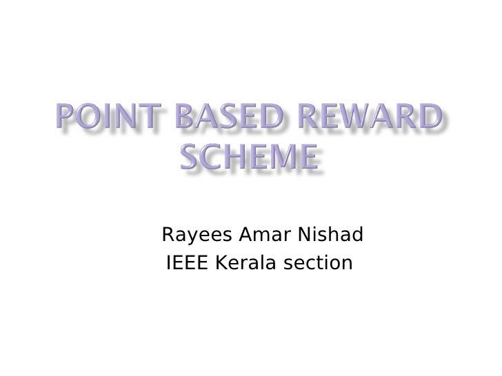 Rayees Amar Nishad IEEE Kerala section