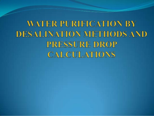 Desalination of Sea Water using Membrane technology