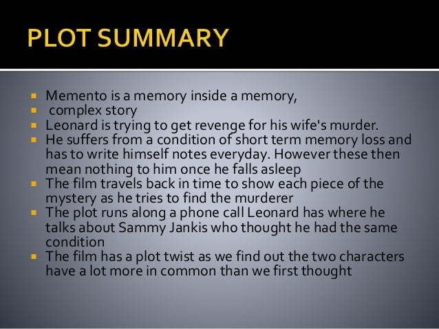 memento history and memory Writer/director christopher nolan adapted memento from a short story in which history goes no him with no short term memory is hunting the killer of his wife.