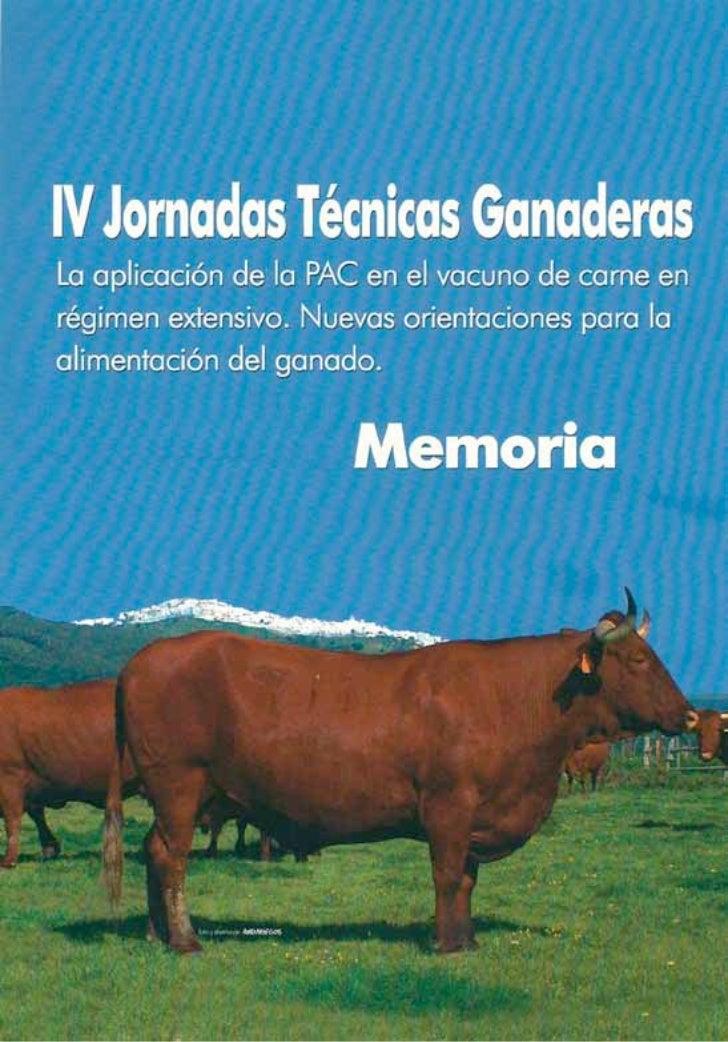 Memoria  jornada tecnica ganadera 2004, Vejer de la Frontera, Cádiz