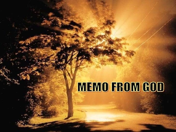 MEMO FROM GOD