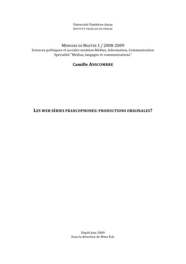 UniversitéPanthéon‐Assas                            INSTITUTFRANÇAISDEPRESSE                                        ...