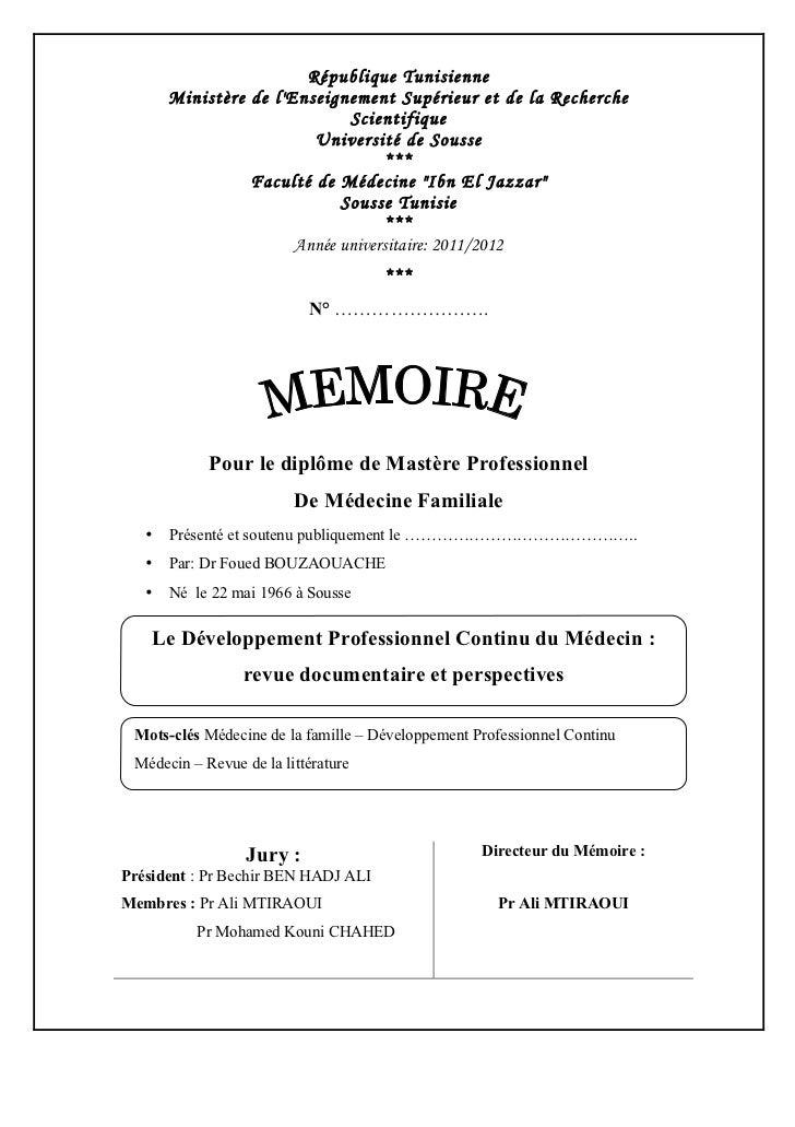 République Tunisienne       Ministère de lEnseignement Supérieur et de la Recherche                              Scientifi...