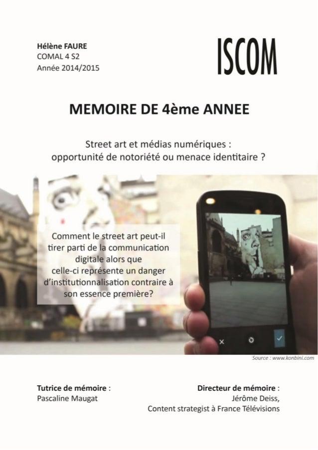 1 Hélène FAURE – ISCOM – 2014/2015