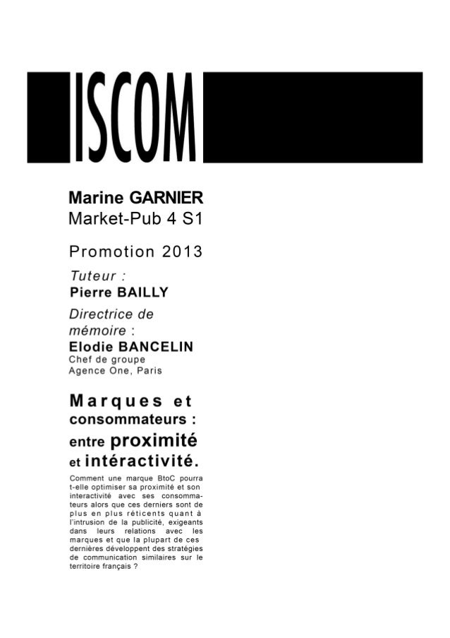 Mémoire marine garnier