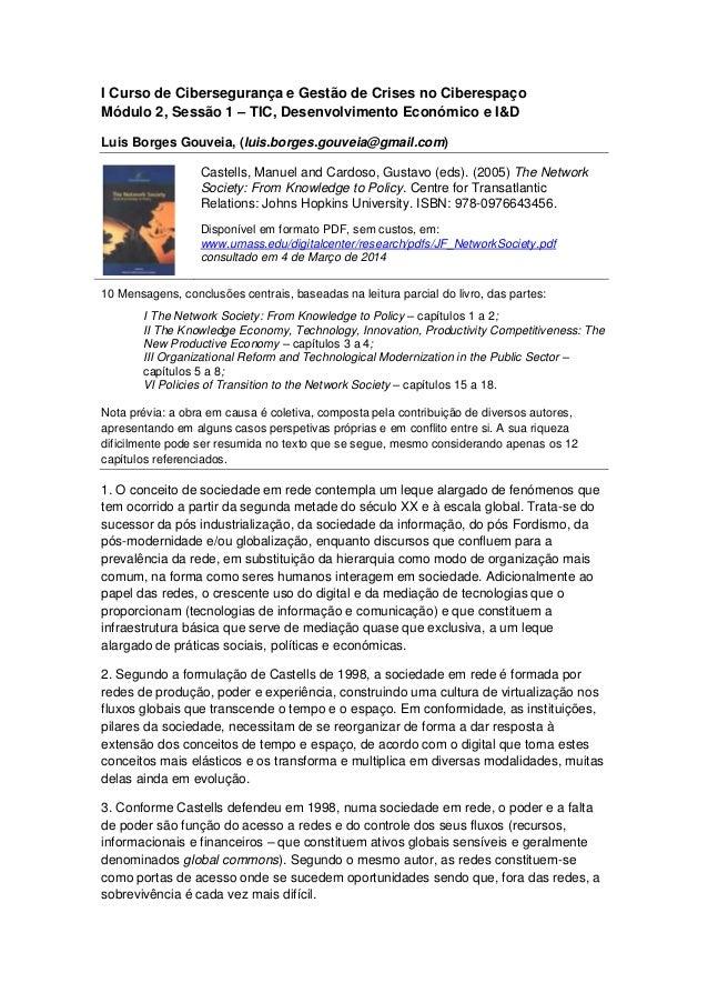 I Curso de Cibersegurança e Gestão de Crises no Ciberespaço Módulo 2, Sessão 1 – TIC, Desenvolvimento Económico e I&D Luis...