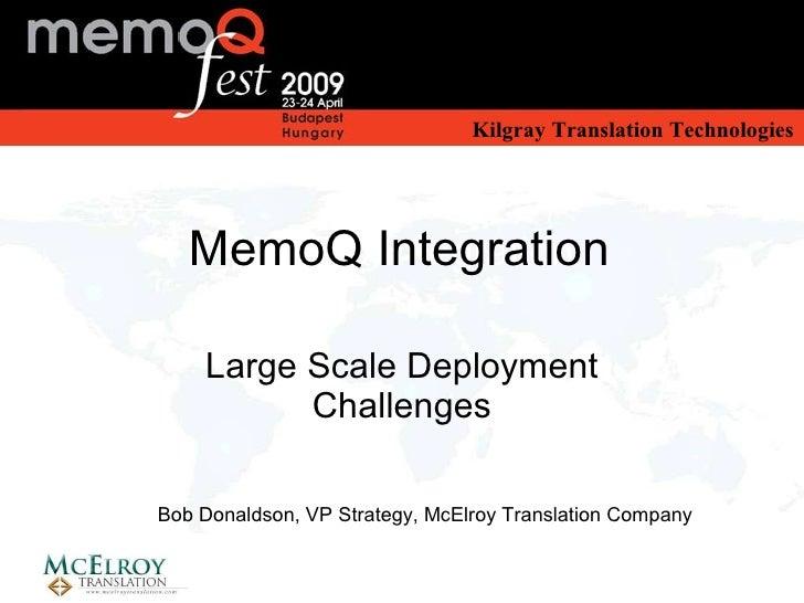 MemoQ Integration