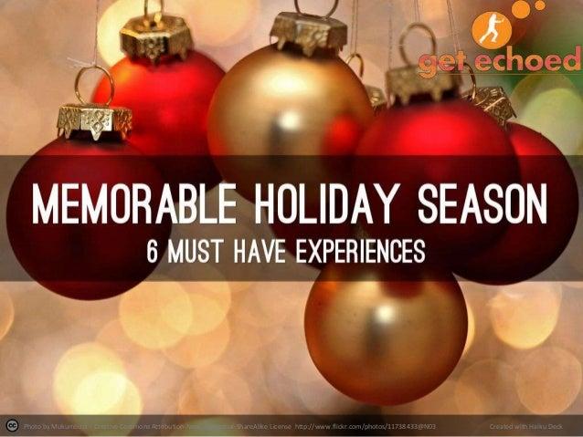 Memorable holiday-season v