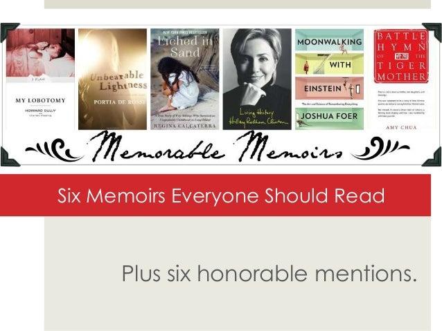 6 Memorable Memoirs