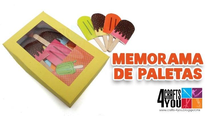 Memorama [Memorice] infantil de paletas paso a paso