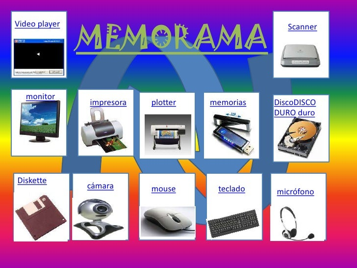 MEMORAMA Video player                                       Scanner       monitor                impresora   plotter   mem...
