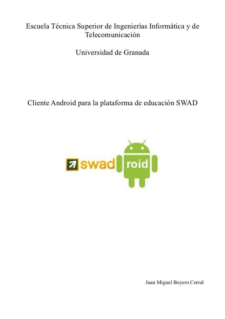 Memoria Proyecto Fin de Carrera SWADroid
