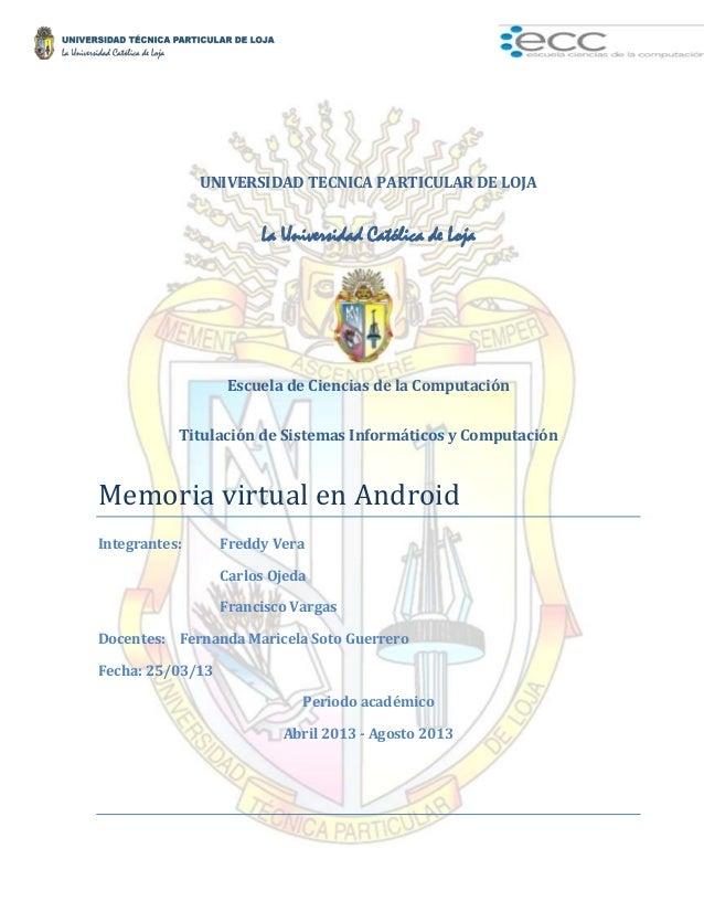 Memoria virtual android