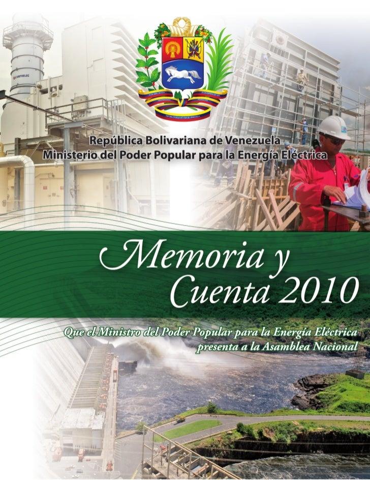 Memoria y cuenta 2010-del-sector electrico (mppee)