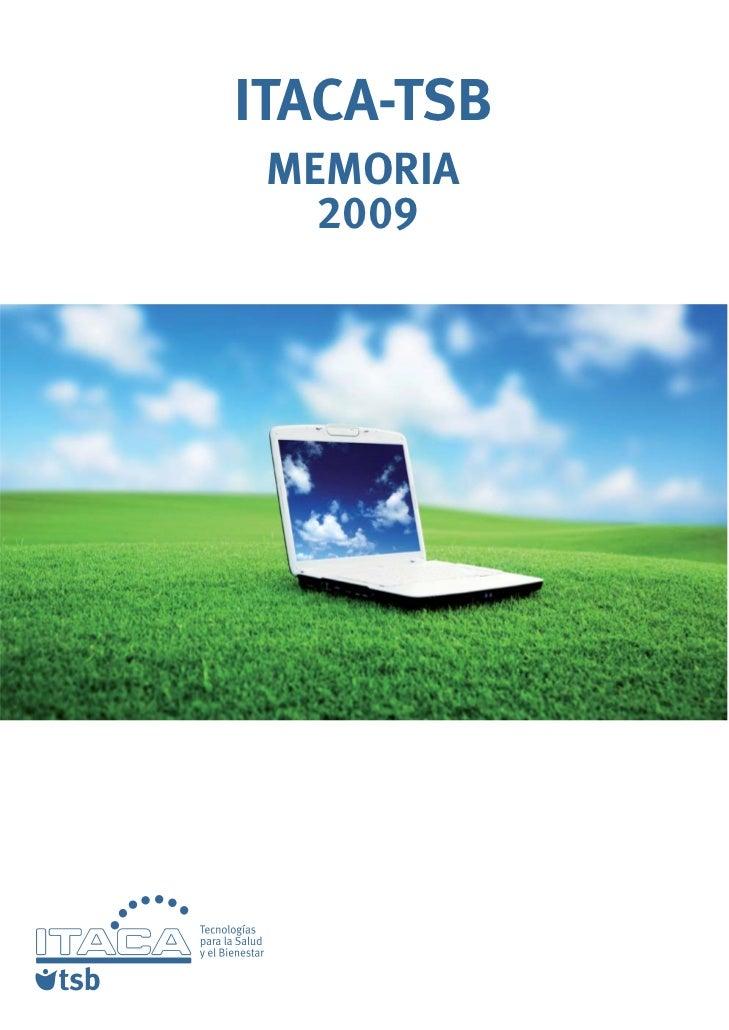 Memoria 2009 ITACA-TSB