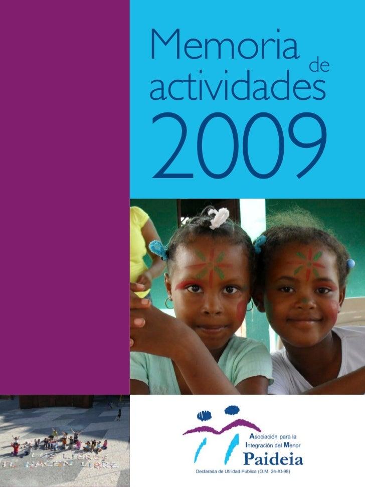 Memoria 2009 Paideia ONG - Asociación Paideia