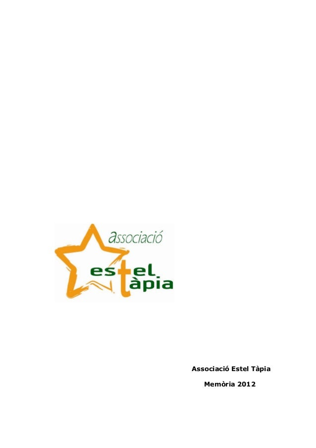Associació Estel TàpiaMemòria 2012