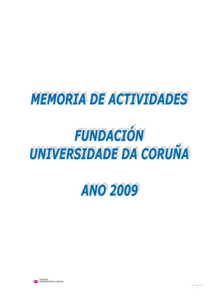 Memoria gráfica de actividades 2009