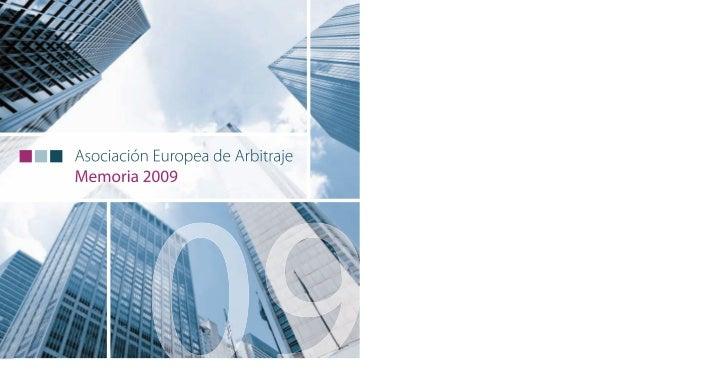 Asociación Europea de Arbitraje Memoria 2009