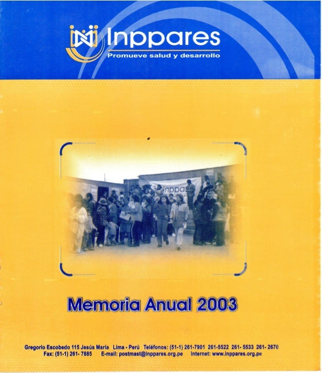 Memoria Anual Año 2003