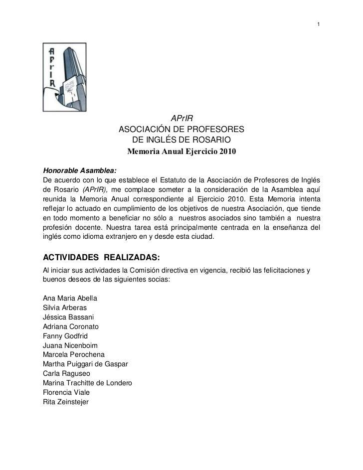 1                                     APrIR                         ASOCIACIÓN DE PROFESORES                            DE...