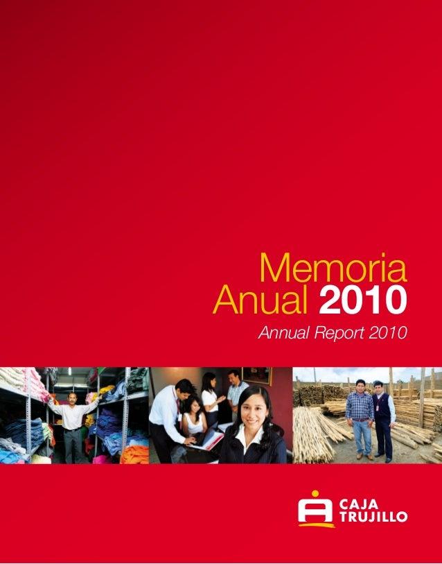 Caja Trujillo AMemoriaAnual 2010Annual Report 2010