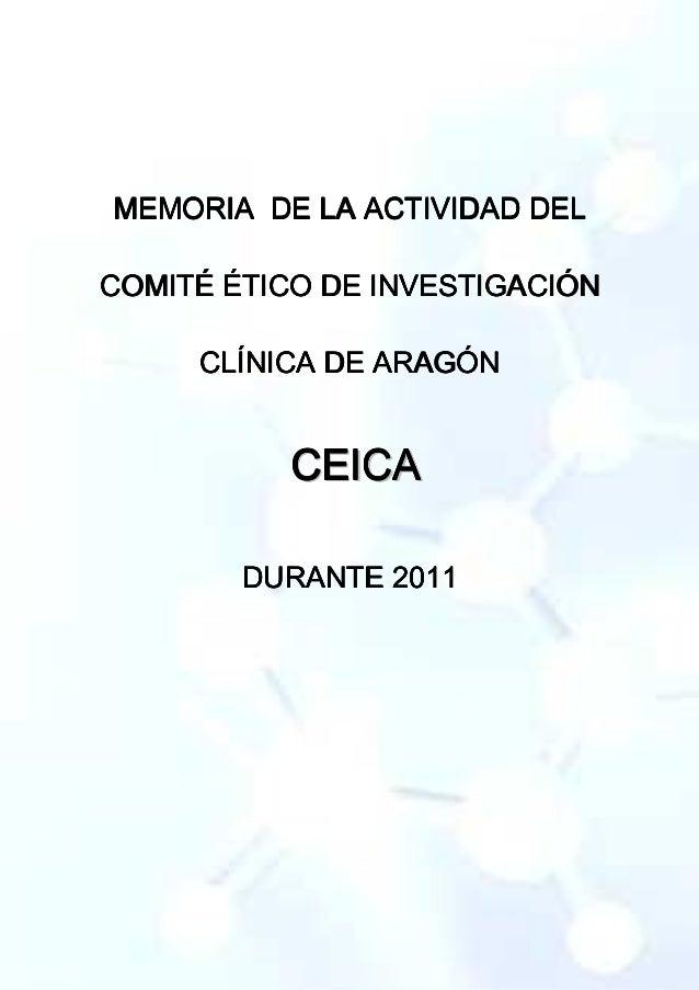 MEMORIA DE LA ACTIVIDAD DELMEMORIA DE LA ACTIVIDAD DELMEMORIA DE LA ACTIVIDAD DELMEMORIA DE LA ACTIVIDAD DEL COMITÉ ÉTICO ...