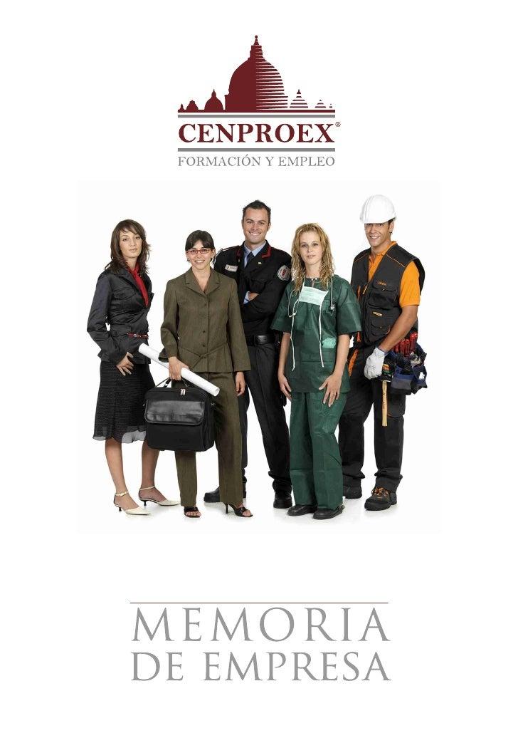 Memoria cenproex 2011