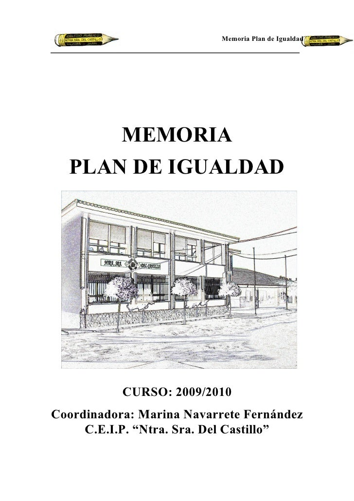 Memoria Plan de Igualdad 2010