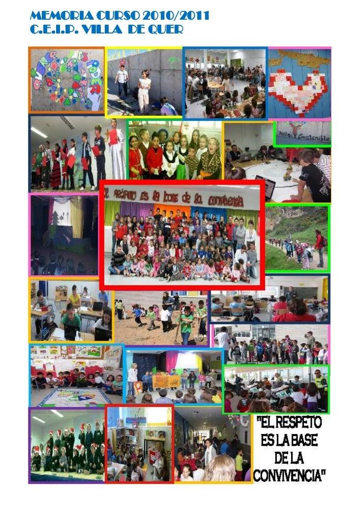 Memoria C.P.Quer curso 2010-11