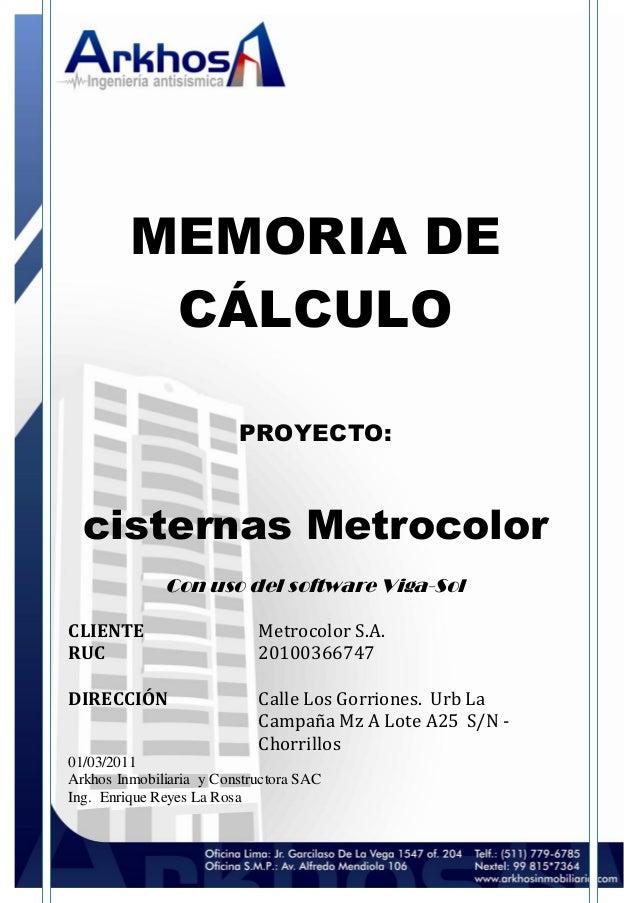 Memoria de calculo metrocolor