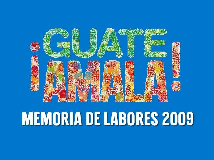 Memoria de labores 2009