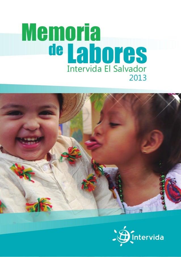 Memoria de Labores 2013 Intervida