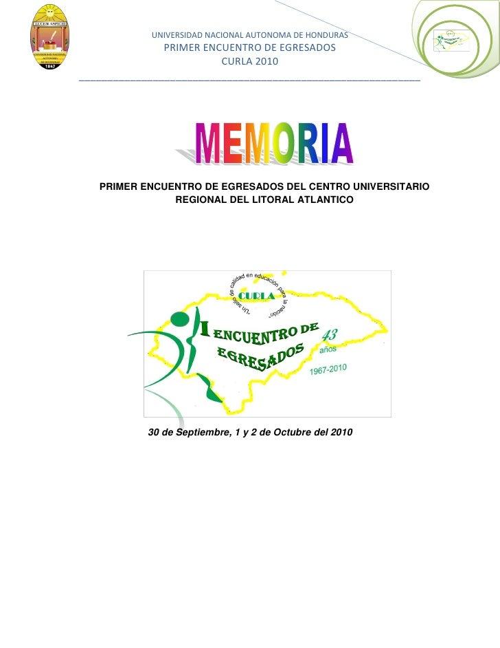 Memoria del evento