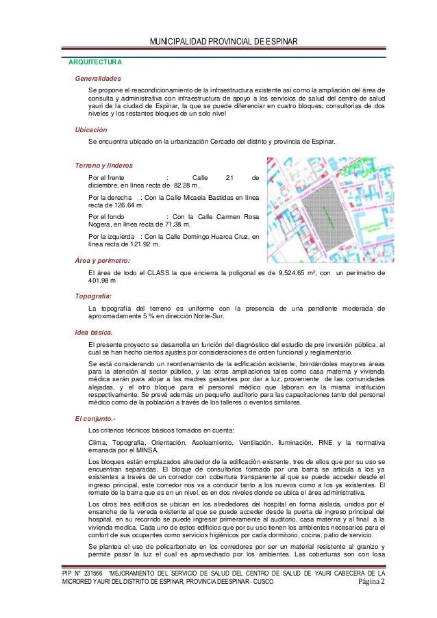 memoria descriptiva arquitectura ForMemoria Descriptiva Arquitectura