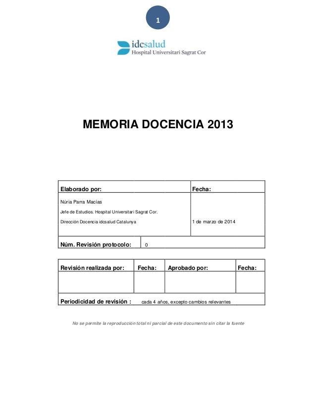 Memòria d'activitat docent 2012 - 2013