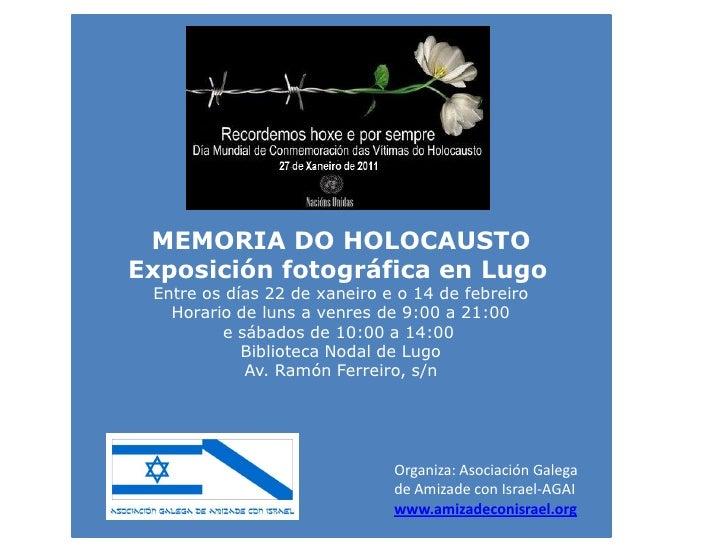 Exposición Memoria do Holocausto
