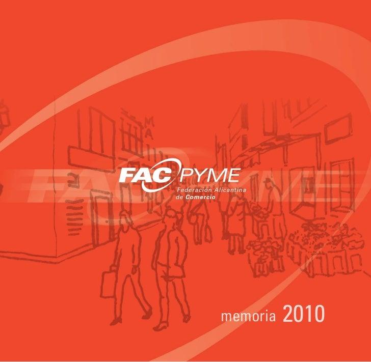 Memoria FACPYME 2010