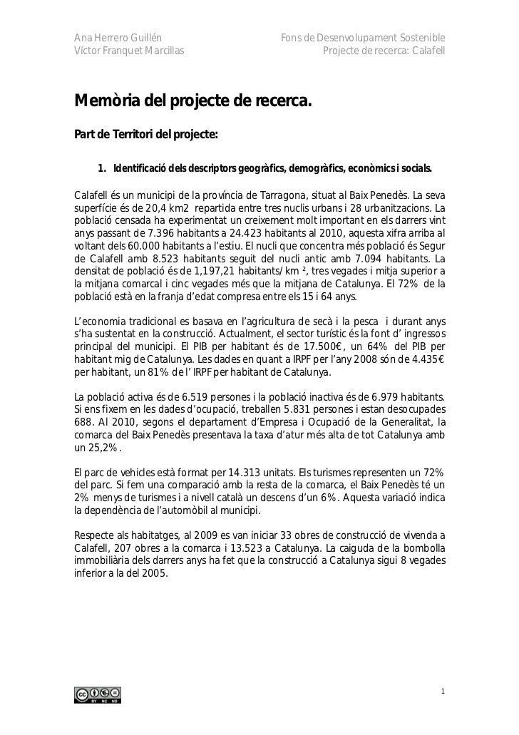 Ana Herrero Guillén                             Fons de Desenvolupament SostenibleVíctor Franquet Marcillas               ...