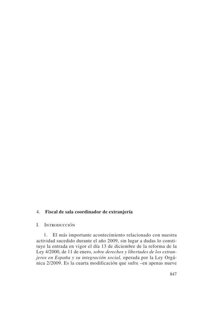 4. Fiscal de sala coordinador de extranjeríaI.   Introducción    1. El más importante acontecimiento relacionado con nuest...