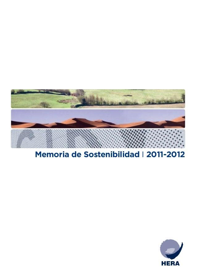 Memoria de Sostenibilidad 2011 - 2012