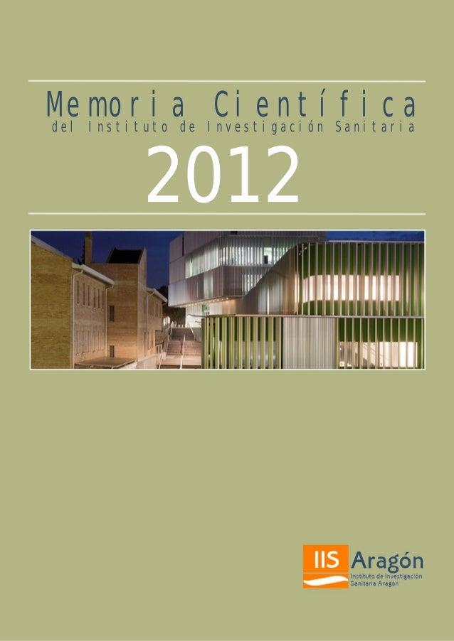 Memoria científica IIS Aragón 2012