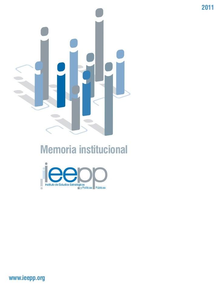Memoria institucional2011ieepp