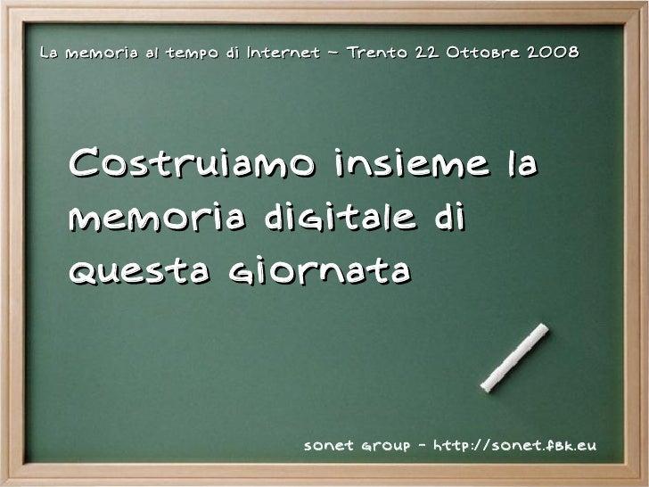 La memoria al tempo di internet