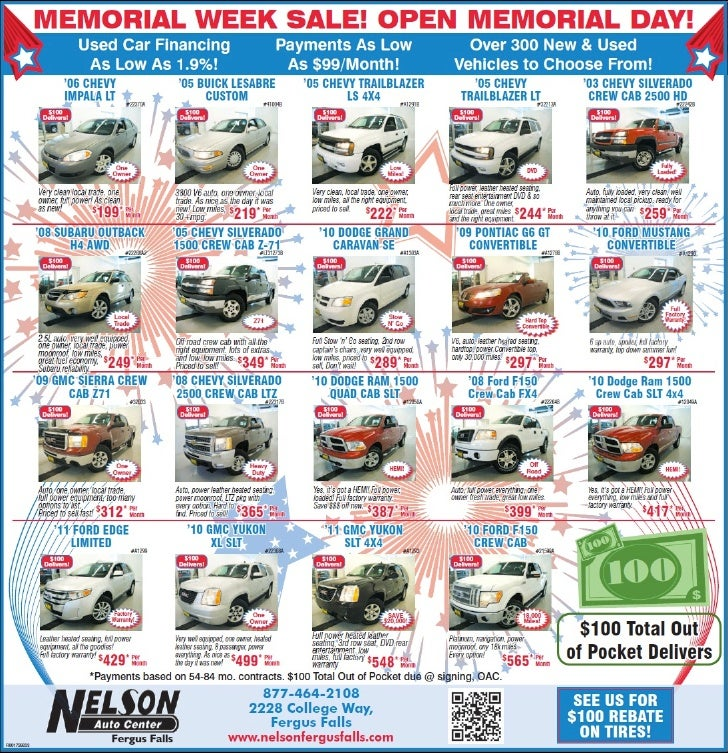 Memorial Day Used Cars Special in MN | Fargo car dealership